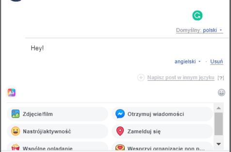 publikowanie postów w różnych językach