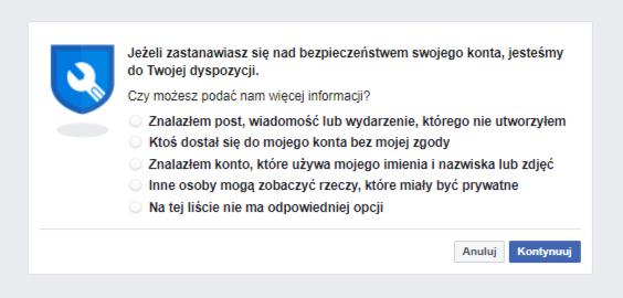 Zhakowane konto na Facebooku