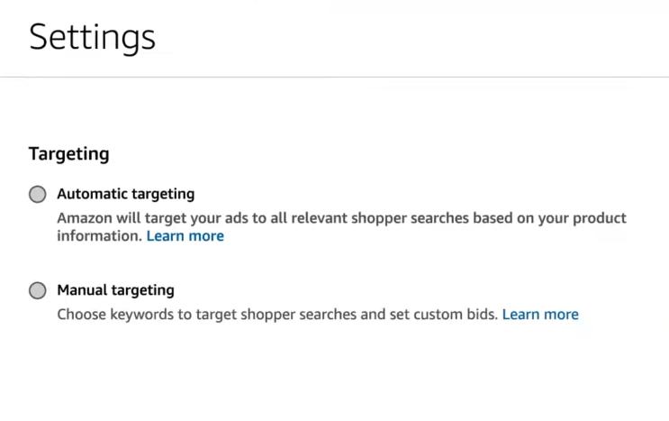 5 Amazon Ads ustawienia