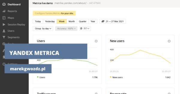 Yandex Metrica. Alternatywny sposób analizy danych na Twojej stronie.