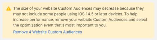 custom audience ios 14.5